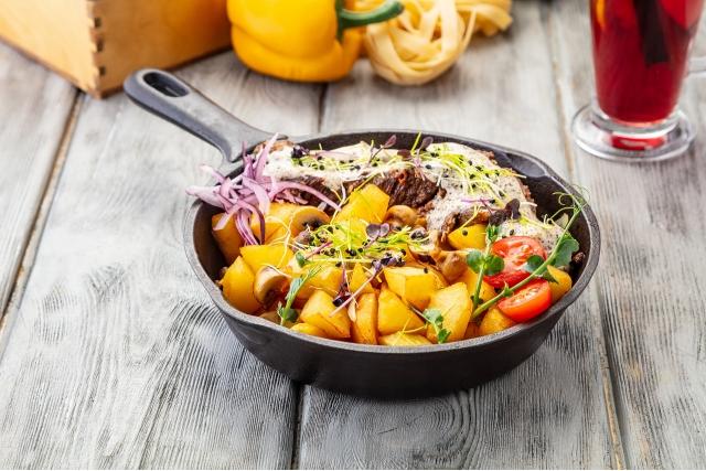 Говядина в сливочном соусе
